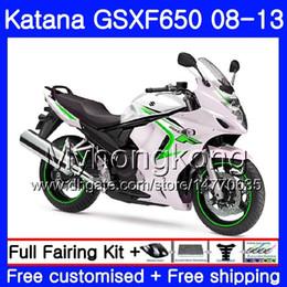 White Katana Australia - Bodys For SUZUKI hot sale white KATANA GSX650F 2008 2009 2010 2011 2012 2013 303HM.39 GSX 650F GSXF650 GSXF 650 08 09 10 11 12 13 Fairing