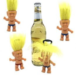 Novelty Bottle Openers Wholesale Australia - 2020 Donald Trump Bottle Opener Precident Figure Dolls Novelty Cartoon Beer Bottle Openers Troll Doll Toys Funny kitchen Tool 4850