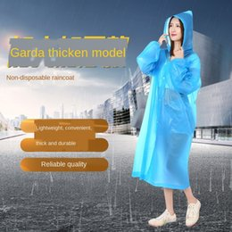 poncho color UK - oNvcQ Non-disposable raincoat transparent color outdoor hiking portable poncho Non-disposable raincoat transparent color Cloak cloak outdoor