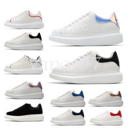 91ff85f6 ... hombres y mujeres de cuero de moda de gran tamaño plataforma Alexander  aumentar mcqueens zapatos casuales para hombre zapatillas de deporte de  calidad