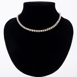 tennis jewelry for women NZ - Sale New Women Crystal Rhinestone Collar Necklace Necklaces for girl Wedding Birthday Jewelry