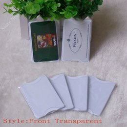 Transparent Cards Australia - Free shipping 5pcs Transparent PVC hard plastic card holder , Card Protector,waterproof storage to bank cards ,OEM welcome