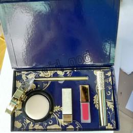 $enCountryForm.capitalKeyWord UK - 2019 Famous Y Brand Makeup Set matte lipstick Lipgloss Air Cushion Eyeliner Mascara Cosmetic Kit 5 in 1 set