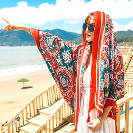 cotton summer scarves Australia - 2 Styles Women Fashion Breathable Cotton Linen Shawl Totem Scarves Traveling Sunscreen Scarf Ethnic Printed Beach Towel Scarf