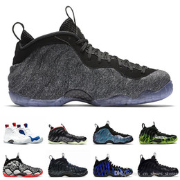 Discount christmas tech Tech Fleece Penny Hardaway men basketball shoes Foam One Vandalized Habanero Paranorman Purple Camo mens trainers Sports