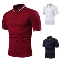 Wholesale red polo shirt for men resale online – Breathable Men s Polo Shirt for Men Desiger Polos Men Quick Drying Short Sleeve Shirt Clothes Jerseys Golftennis Plus Size J190703
