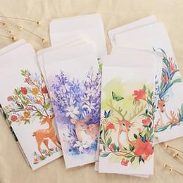 $enCountryForm.capitalKeyWord Australia - 5PCS Simple forest Flowers leaves deer Invitation Storage cover Student Supplies Creative Lovely Simple Letter Envelope
