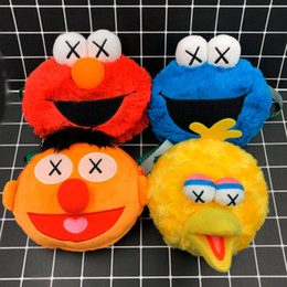 Best White Bags Australia - Top New 5 Styles Sesame Street Elmo Cookie Monster Emie Beanie Bert Big Bird Plush Bag Anime Soft Dolls Best Gifts Shoulder Bags