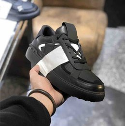 Wholesale men s dresses for sale - Group buy Newest Men VL7N Calfskin Sneakers Women Lace up Embossed Leather Trainers Triple S Shoes Women Platform Sneaker Dress Shoes with Box
