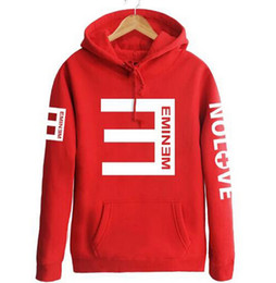 $enCountryForm.capitalKeyWord NZ - 2019 Winter Autumn Men's Fleece Hoodies Eminem Printed Thicken Pullover Sweatshirt Men Sportswear Fashion Clothing Wholesale