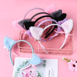 $enCountryForm.capitalKeyWord Australia - Lovely Night Party Club Bar Decorate Headbands Plush Cat Fur Ear Hairband Girls Anime Cosplay Costume Cat Ear Hair wear