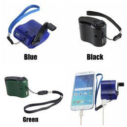 Hand Powered Dynamo Australia - Universal Portable Emergency Hand Power Dynamo Hand Crank USB Charging Charger for All Brand Mobile Phones Outdoor Gadgets CCA11783 50pcs