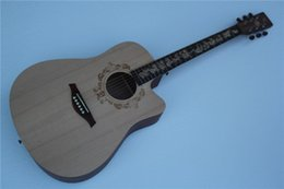 Acoustic guitAr online shopping - New Style Chinese Zodiac Memorial quot Acoustic Guitar Rabbit Models Chinese Zodiac Fretboard Inlay Offer Customized