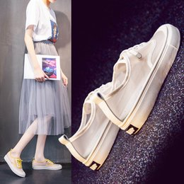 $enCountryForm.capitalKeyWord Australia - Shallow-mouthed small white shoes for women in summer 2019 new hollow breathable mesh sports Korean version of student leisure women's shoes