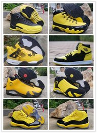 Wholesale Retro Big Kids Mens Basketball Shoes Bumblebee Yellow Black Pack Designer Sneakers Baskets s s des Chaussures Schuhe Shoe