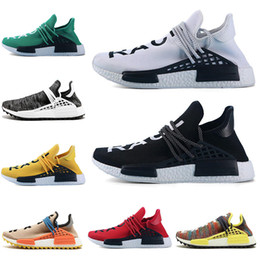 $enCountryForm.capitalKeyWord Canada - New Human race Hu trail x pharrell williams Nerd men running shoes white Black yellow lace Equality mens trainers for women sports sneaker