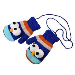 $enCountryForm.capitalKeyWord Australia - Winter Cartoon Eyes Children Gloves Warm Cotton Blend Baby Boy Mittens Kids Print Full Finger Knitted Thicken Girl Gloves