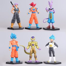 Figures Australia - 6Pcs  Lot Figurines Dragon Ball Z Action Figures Dragonball Super Trunks Goku Blue Super Saiyan God Vegeta Beerus Frieza Toys