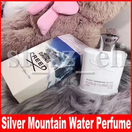 water bottle springs 2019 - Creed Perfume Silver Mountain Spring Water Men's Perfume White bottle parfum Men Cologne With Good Smell Satisfacto