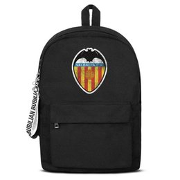 $enCountryForm.capitalKeyWord NZ - Valencia CF Los Ches VCF Distressed Free Shipping Women Men Canvas School Student Backpack Lightweight Travel Backpack Printing Bac