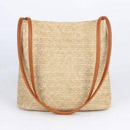 Wholesale Straw Ladies Handbags Australia - JIARUO Summer leather Top-handle Women Straw Shoulder bag Tote Handbag hand bag Ladies daily outdoor