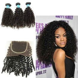$enCountryForm.capitalKeyWord Australia - Brazilian Indian Peruvian Malaysian Kinky Curly Hair Bundles with Lace Closure High Quality Braids Raw Virgin Human Hair Weaving Jerry Curl