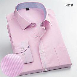 black shirt office men 2019 - Pink Men's Long-Sleeve Shirts Slim Business Casual Stripe Shirt Work Men Business Weddind Shirts Plaid Work Office