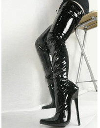 "$enCountryForm.capitalKeyWord Australia - Free Shipping Women 7"" Extreme High Heels Crotch Boots Fetish Sexy Stiletto thin heel shoe Over-the-knee Zip Boot Thigh High Boots Botas"