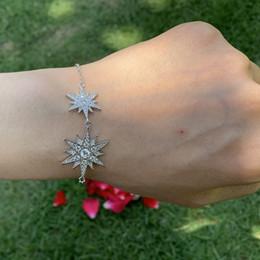 $enCountryForm.capitalKeyWord Australia - Victoria Weick Luxury Jewelry Cute Real 925 Sterling Silve Pave Mirco White Sapphire CZ Diamond Gemstones Wedding Women Star Bracelet Gift
