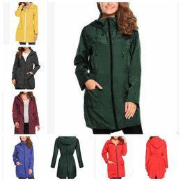 b543796ca87 Women rain jacket hooded online shopping - Women Travel Waterproof Raincoat  Hoodie Windproof Hiking Coat Jacket