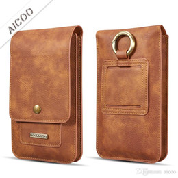 Iphone Wallet Buckle Case Australia - Luxury PU Leather Holster Waist Man Flip Leather Case Cover Pouch Bag with Card Slot Buckle For Iphone XS MAX XR Samsung Opp Bag