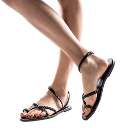 China YOUYEDIAN Women Flat Sandals 2019 Fashion Woven Gladiator Sandals Women Beach Summer Shoes Casual Ladies supplier woven leather sandals suppliers