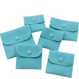$enCountryForm.capitalKeyWord NZ - Velvet Jewelry Gift Packaging Bag Small Envelope shape Pouch with Snap Fastener Dust Proof jewelry Storage Bags green color