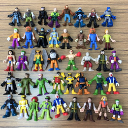 batman figure wholesale Australia - random 7pcs lot DC Super Hero Superhero Batman Flash Harley Quinn Joker Poison Ivy Robin Catwomen Calendar Man 2in Action Figure Toys Gift