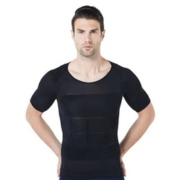 1ac533beadc79 Men Bodysuit Slimming Tummy Shaper Belly Underwear Shapewear Waist Girdle  Vest Shirt plus size tops