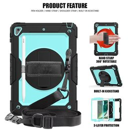 Nexus tab case online shopping - for new ipad9 air AIR pro PRO10 pro mini T510 T387 T580 T590 Hybrid Shockproof Holder apple pencil Shoulder strap