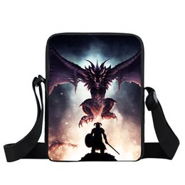 handbag book Australia - Magic Dragon   Dragonborn Mini Messenger Bag Teenager Boys Girls Cross Bags Women Handbags Children Book Bag Kids Shoulder Bags