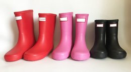 Kids Shoe Rain Boot Australia - Kids H Letter Print Rainboots Summer Boys Girls Mid Calf Rain Boots Waterproof Rubber Water Shoes Children Teenages Rainshoes A41306