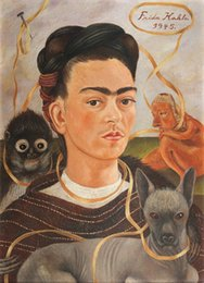 Chinese  Frida Kahlo Art Self Portrait,Oil Painting Reproduction High Quality Giclee Print on Canvas Modern Home Art Decor 178 manufacturers