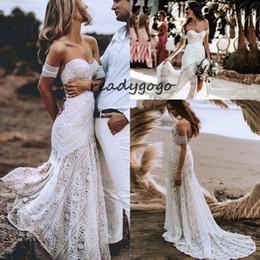 $enCountryForm.capitalKeyWord Australia - Sexy Boho Beach Soft White Lace Mermaid Wedding Dress 2019 Sweetheart Long Bridal Dress Hawaiian Bride Gown Summer vestido de