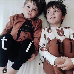 $enCountryForm.capitalKeyWord Australia - Tiny Cottons 2017 Autumn T-shirt Pants Kids Sets Toddler Animal Pattern Clothing Children Fashion Print Suits Boys Girls Outfit J190715