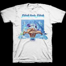 """Discount black sabbath t shirts - Black Sabbath """"Sabbath Bloody Sabbath: Back Cover"""" White T-Shirt Cool Casual pride t shirt men Unisex New"""