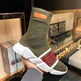 $enCountryForm.capitalKeyWord Australia - Luxury Speed Sneakers X Gcds Mens Women Classic Arena Sock Boot Textile Upper High -Top Stretch Knit Sneaker Socks Boots Bal12