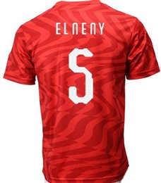 Thai Red Shirts Australia - 2019 mens Egypt Customized Home RED 10 M.SALAH Thai Quality Soccer Jersey shirts TOPS,Wholesale Popular personality Custom men Soccer Wear