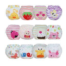 $enCountryForm.capitalKeyWord NZ - Whosale Baby Waterproof Diaper Pant Potty Training panties New underwear Reusable Diapers Cartoon Training Pants Baby 25pcs lot