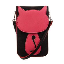 $enCountryForm.capitalKeyWord UK - Cute Cat Pattern Shoulder Bag Transparent Touch Screen Crossbody Messenger Hand Bags Cellphone Pouch Purse Handbags Bag Handbag