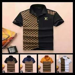 Mens striped shirts designs online shopping - Men Polo Shirts Snake Bee Embroidery Mens Polos Shirt Design Colour Stripe Polo T Shirts Size M XXL