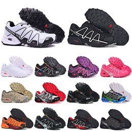 Wholesale hunt fish for sale – custom 2020 New Speed cross CS running shoes III IV mens womens Black White breathable Athletics Shoes sports Sneakers size