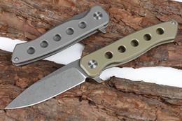 $enCountryForm.capitalKeyWord Australia - High End 2 Handle Colors Ball Bearing Flipper Folding Knife D2 Stone Wash Blade TC4 Titanium Alloy Handle EDC Gear