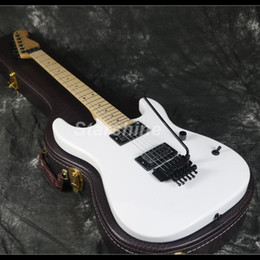 Discount maple guitar necks - 2019 New Hot Sell Chavl Electric Guitar 22F FR Bridge White Color Maple Neck Standard Size